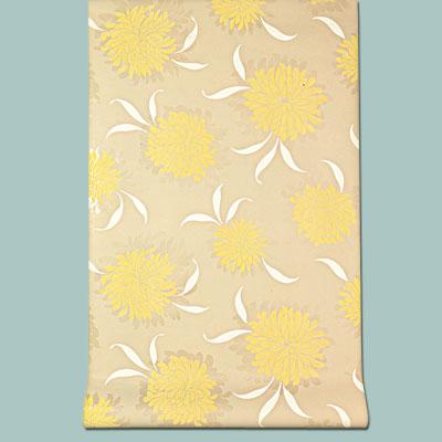 yellow floral vinyl Marianna wallpaper
