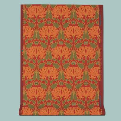 paper Ruby Honeysuckle wallpaper in earth tones
