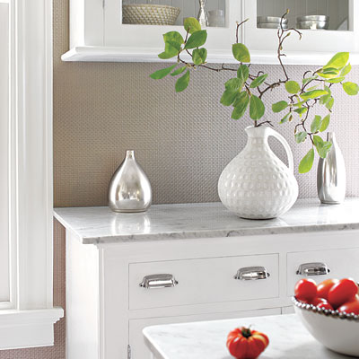 Granada Weave vinyl wallpaper in a kitchen