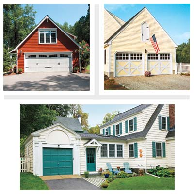 three remodeled garages