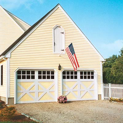 house with new barn style garage doors
