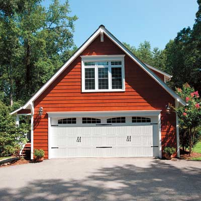 house with new remodeled garage