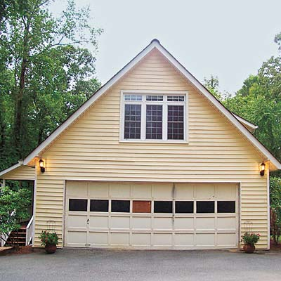 house with unattractive garage
