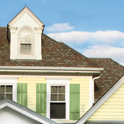 house with curb appeal and refined roof