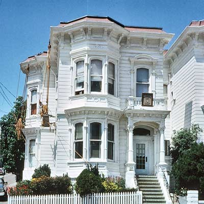 white unfinished san francisco town house