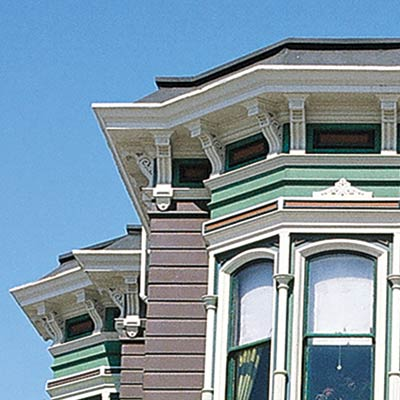 repainted san francisco townhouse with curb appeal and charcoal painted roof