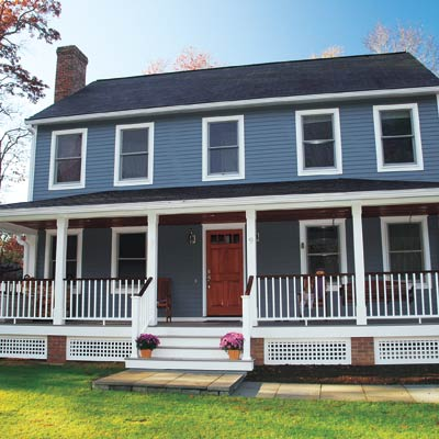remodeled colonial revival house with curb appeal