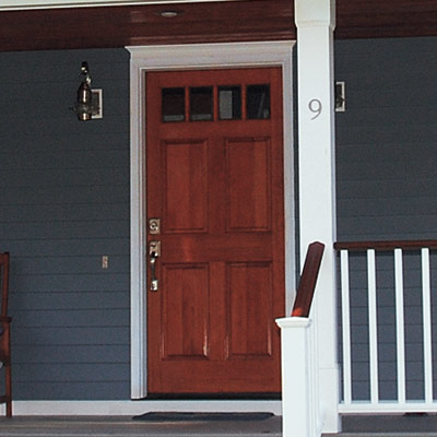 remodeled colonial revival house with curb appeal and new door