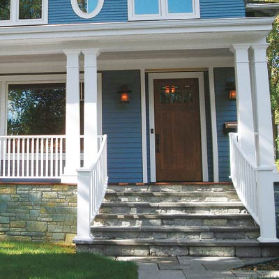 colonial revival with curb appeal and new entryway
