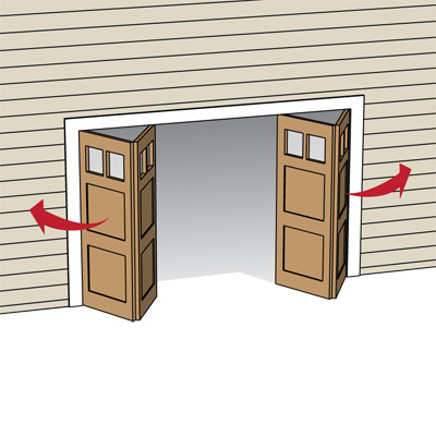 illustration of bifold garage door