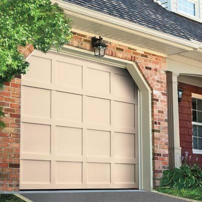 neo colonial style garage door