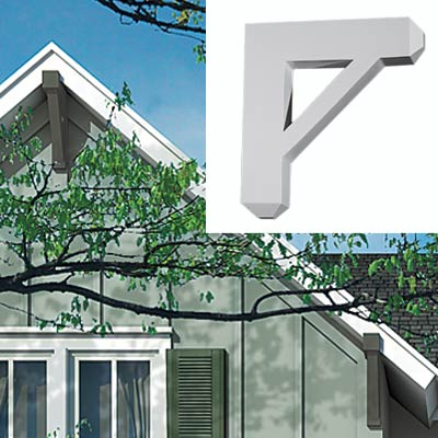 farmhouse with roof brackets