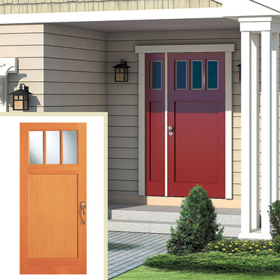 New wood door of the Elsen home redo