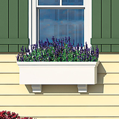 Window box of the Matthers home after photoshop redo