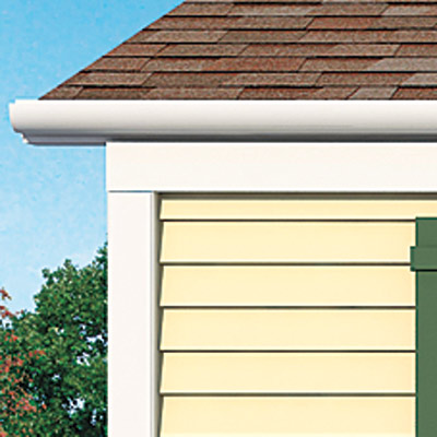 Rounded gutters of the Matthers home after photoshop redo