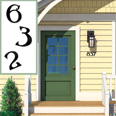 House numbers on the Matthers front exterior after photoshop redo