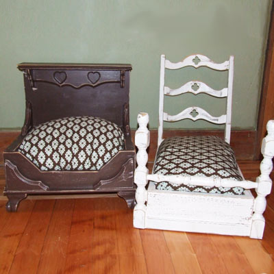 Drawer and Chair Dog Beds