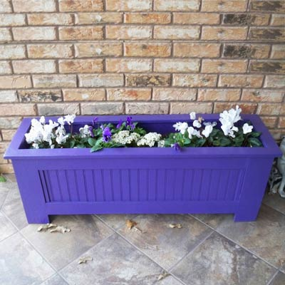 scrap wood salvaged into planter