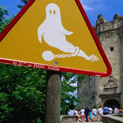 Ghost warning sign
