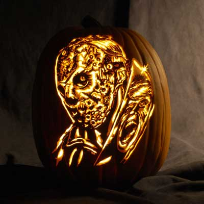 jason vorhees carved pumpkin for contest