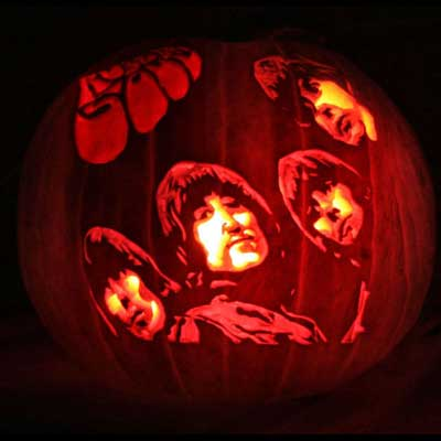 The beatles rubber soul carved pumpkin for contest