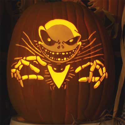 jack skellington nightmare before christmas carved pumpkin for contest