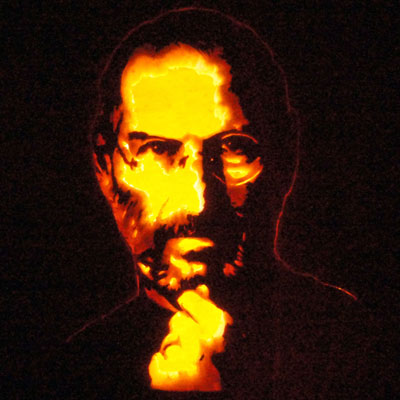 Steve Jobs carved pumpkin for contest