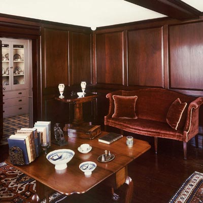 paneled room of the old house of john and abigail adams