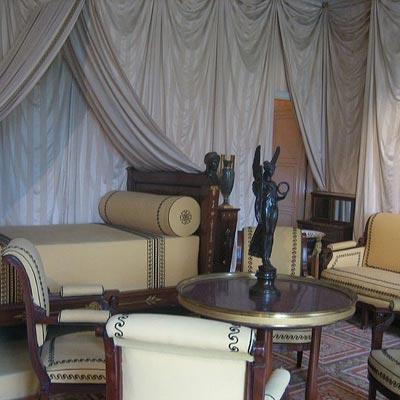 interior sitting room of chateau de la malmaison in rueil maison france