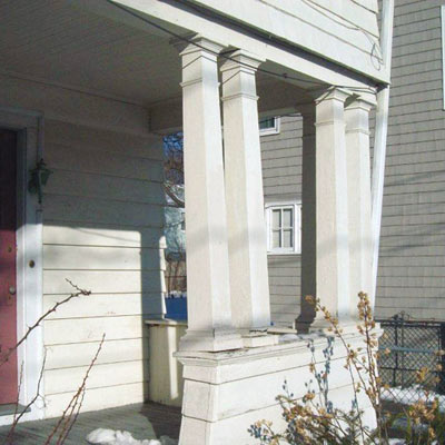 Poorly constructed front porch