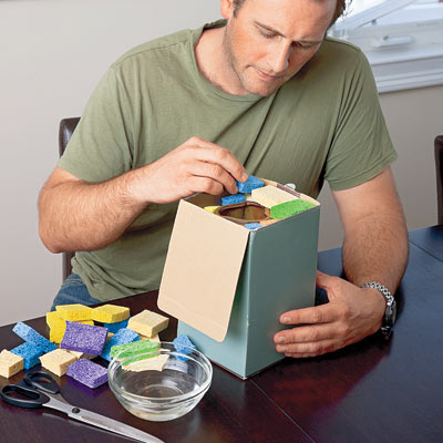 sponges used to pack valuables for storage
