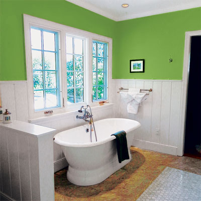 Master bathroom upgrade with wainscoting