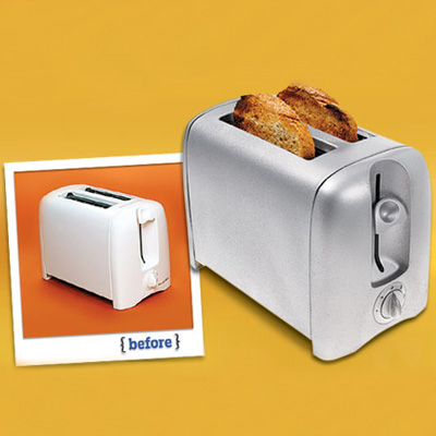 Spray painted toaster