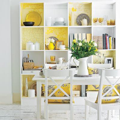 wallpaper storage bookshelf cubbies for easy upgrade