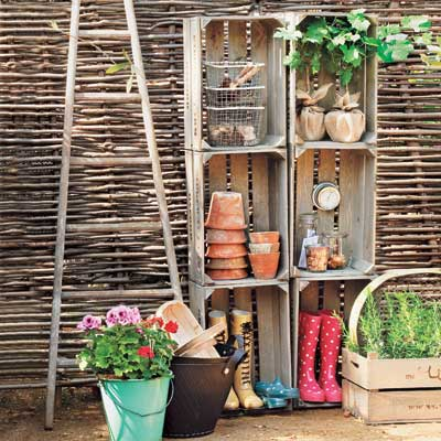 outdoor stacked storage units for easy upgrade