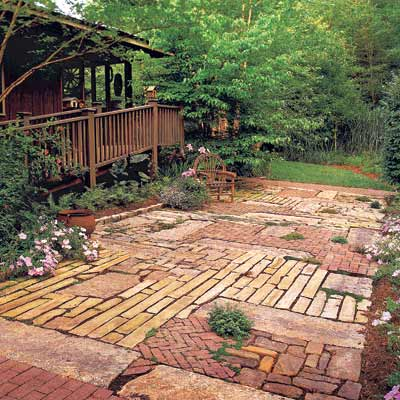patchwork patio design