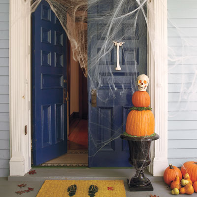 Halloween decorative door