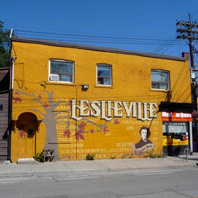 a house in Leslieville, Toronto, Ontario, Canada