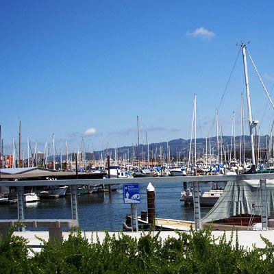 the marina in the West End, Alameda, California