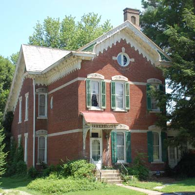 a house in Greencastle, Indiana