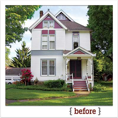 victorian house before digitally repainted for a this old house photoshop redo