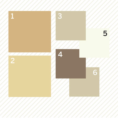 warm neutral palette of paint colors to create a vintage look