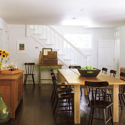 remodeled farmhouse dining room