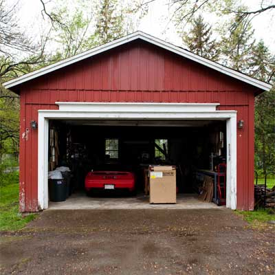 workshop two-car detached garage behind the bedford house before this old house remodel