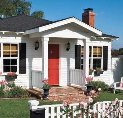 Facade of bungalow