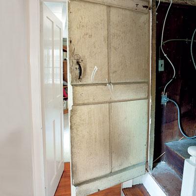 The attic door of the Bedford Homestead
