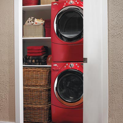 stackable machines 27 ideas for a fully loaded laundry room this old house. Black Bedroom Furniture Sets. Home Design Ideas