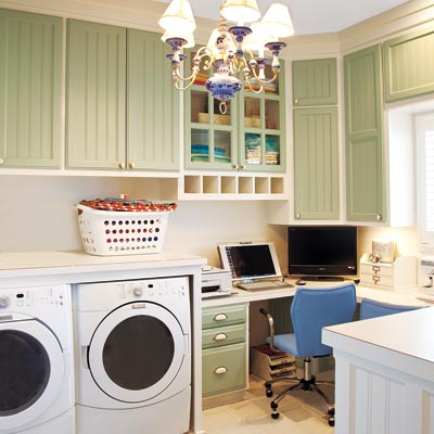 home office laundry room