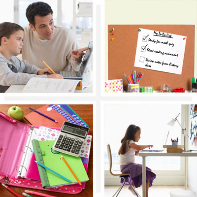 School supplies and accessories for studying
