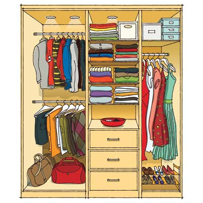 No renovation required how to gain more closet space How to organize your clothes without a closet
